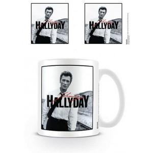 Tasse à café (coffee mug) Johnny Hallyday jeune