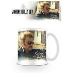 Tasse à café (coffee mug) Johnny Hallyday au volant de sa voiture