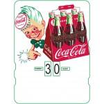 Calendrier perpétuel cartonné Coca-Cola : petit garçon avec son cageot de 6 bouteilles