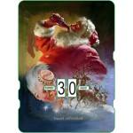 Calendrier perpétuel cartonné Coca-Cola : Père Noël se désaltère avant son grand voyage