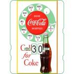 Calendrier perpétuel cartonné Coca-Cola : Téléphone vintage