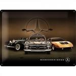 Plaque en métal 30 X 40 cm Mercedes-Benz : 3 anciens modèles