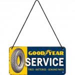 Plaque en métal 10 X 20 cm à suspendre : Goodyear Service