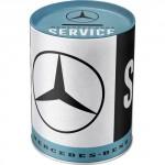 Tirelire métallique ronde Mercedes-Benz Service