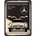 "Plaque en métal 15 X 20 cm : Mercedes-Benz 300 SL ""Gullwing"" 1954-1957"