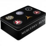 Boîte en métal plate : Mercedes-Benz et ses logos au fil du temps