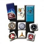 Set de 9 magnets : Mercedes-Benz évolution du logo