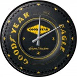 Horloge murale vintage : Pneu Goodyear