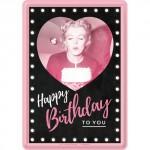 """Plaque en métal 14 X 10 cm """"It's your Birthday"""""""
