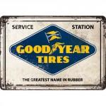 Plaque en métal 14 X 10 cm Goodyear Tyres (pneus)