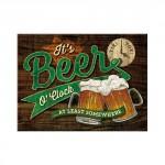 "Magnet 8 x 6 cm ""It's beer o'clock"" (bière)"