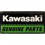Plaque en métal 25 x 50 cm : Kawasaki : Genuine parts