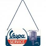 Plaque en métal 10 X 20 cm à suspendre : Vespa Service