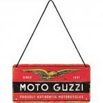 Plaque en métal 10 X 20 cm à suspendre : Moto Guzzi depuis 1921