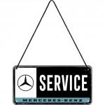 Plaque en métal 10 X 20 cm à suspendre : Mercedes-Benz Service