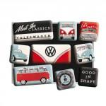 Set de 9 magnets : VW (Volkswagen) Beetle Bulli