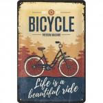 """Plaque en métal 20 X 30 cm """"Bicycle"""" (vélo)"""