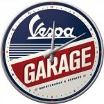Horloge murale : Vespa garage
