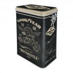 Boîte en métal rectangulaire avec clips Goodyear motorcycle tires