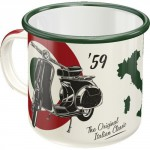 Tasse à café (coffee mug) en métal : Vespa '59 The original italian classic