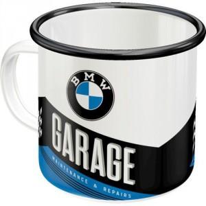 Tasse à café (coffee mug) en métal : BMW Garage