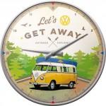 "Horloge murale Vintage : VW Volkswagen T1 Bulli ""The orginal ride"""