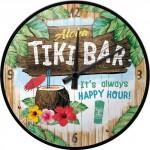 Horloge murale Vintage : Aloha Tiki Bar