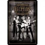 """Plaque en métal 20 X 30 cm """"Legends live forever"""""""