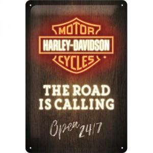 Plaque en métal 20 X 30 cm Harley-Davidson : Calendrier perpétuel