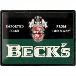 Plaque en métal 30 X 40 cm : Beck's bier