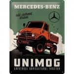 Plaque en métal 30 X 40 cm : Mercedes-Benz Unimog
