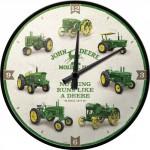Horloge murale vintage : John Deere logo vert et noir