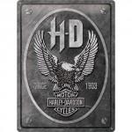 plaque en métal 30 X 40 cm harley-davidson : moto 1949 panhead