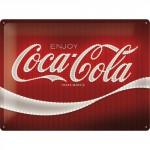 Plaque en métal 30 X 40 cm : Coca-Cola publicité imitation néon