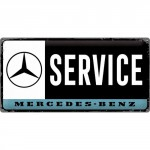 Plaque en métal 25 x 50 cm : Mercedes-Benz : Service