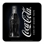 Sous-verre Publicité vintage Coca-Cola sur fond noir
