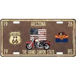 Plaque en métal 15 X 30 cm Parcours de la mythique Route 66 : Arizona
