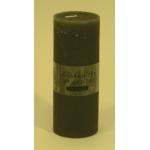 Bougie cylindrique rustique pilier 17cm aspect givré couleur gris clair