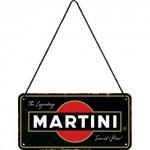 Plaque en métal 10 X 20 cm à suspendre : Martini