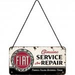 Plaque en métal 10 X 20 cm à suspendre : Fiat Service & Repair