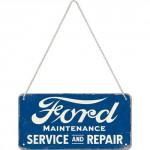 Plaque en métal 10 X 20 cm à suspendre : Ford Service & Repair