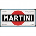 Plaque en métal 25 x 50 cm : Martini logo classique
