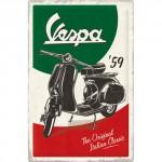 """Plaque en métal mate neuve XL 40 x 60 cm : Vespa """"The original italian classic"""""""