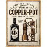 Plaque en métal 30 X 40 cm : Gin Copper Pot