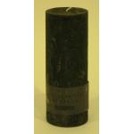 Bougie cylindrique rustique pilier 17cm aspect givré couleur gris foncé