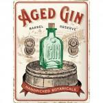 Plaque en métal 30 X 40 cm : Aged Gin