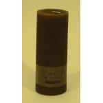 Bougie cylindrique rustique pilier 17cm aspect givré couleur chocolat