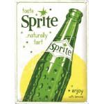 Plaque en métal 30 X 40 cm Sprite publicité vintage