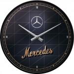 Horloge murale vintage : Mercedes or et argent