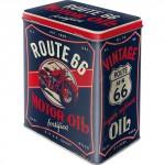 Boîte en métal rectangulaire Route 66 : Motor Oil